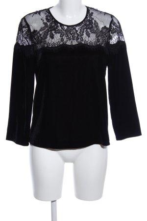 Hallhuber Schlupf-Bluse schwarz Elegant