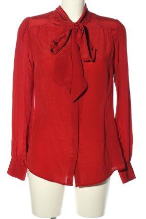 Hallhuber Blusa con lazo rojo estilo «business»