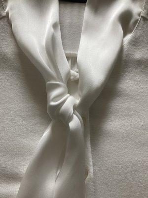Hallhuber Blouse avec noeuds blanc cassé viscose