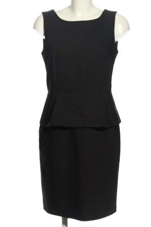Hallhuber Schößchenkleid schwarz Business-Look