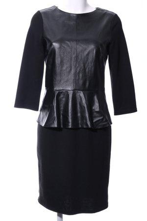 Hallhuber Vestido peplum negro elegante