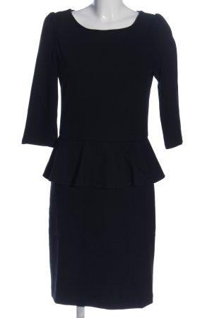 Hallhuber Sukienka z baskinką czarny W stylu biznesowym