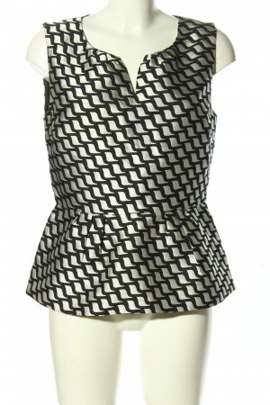 Hallhuber Peplum Top white-black allover print business style