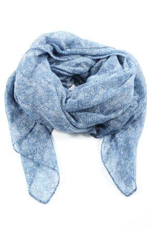 Hallhuber Schultertuch blau-weiß Allover-Druck Casual-Look