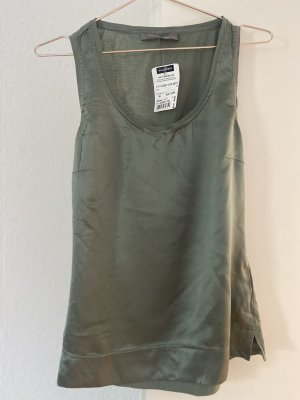 Hallhuber Donna Silk Top green grey