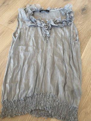 Hallhuber Silk Top azure silk