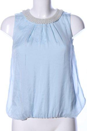 Hallhuber Seidenbluse blau Casual-Look