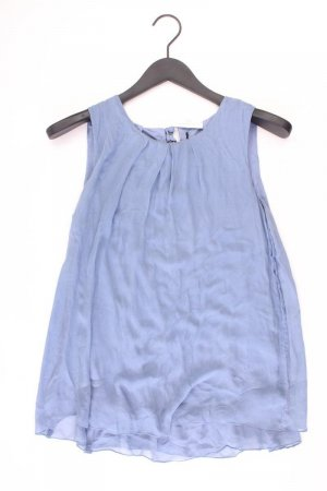 Hallhuber Blusa de seda azul-azul neón-azul oscuro-azul celeste Seda