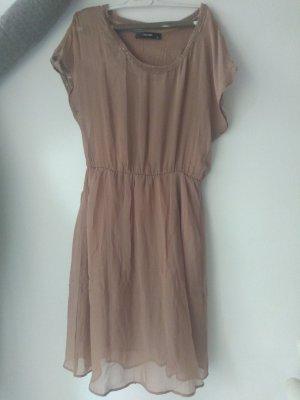 Hallhuber Vestido de Verano marrón claro Seda