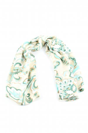 Hallhuber Silk Cloth nude-turquoise abstract pattern casual look