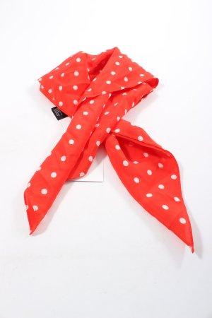 Hallhuber Foulard en soie rouge-blanc imprimé allover style décontracté