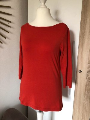 Hallhuber Shirt 3/4-Ärmel, U-Boot-Ausschnitt tomaten-rot Gr. M