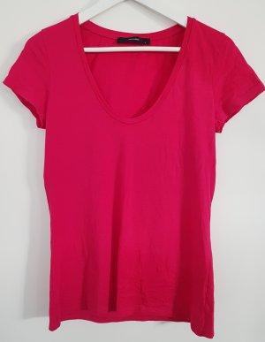 Hallhuber Shirt, magenta, Größe S, weiter Ausschnitt