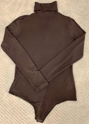 Hallhuber Shirtbody dunkelgrau Business-Look