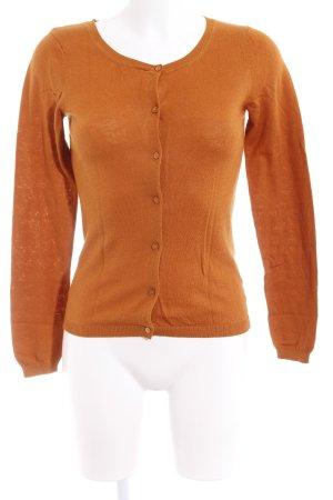 Hallhuber Giacca-camicia arancione scuro stile casual