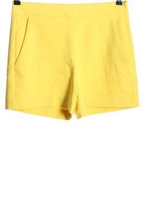 Hallhuber Shorts blassgelb Casual-Look