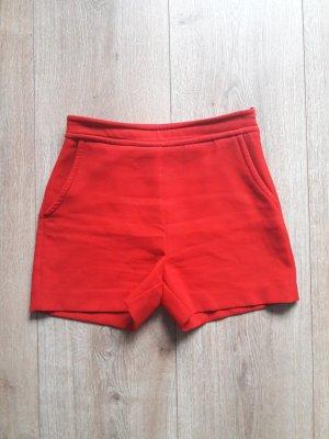 Hallhuber Short taille haute rouge