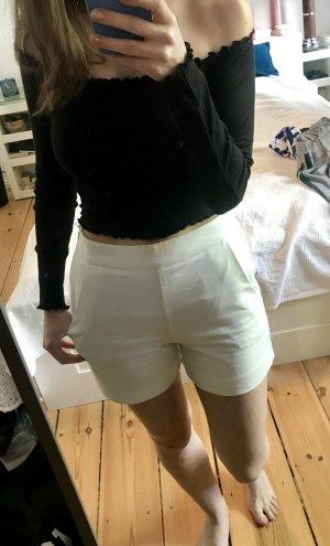 Hallhuber Shorts High Waist weiß XS