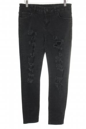 Hallhuber Skinny Jeans anthrazit Casual-Look