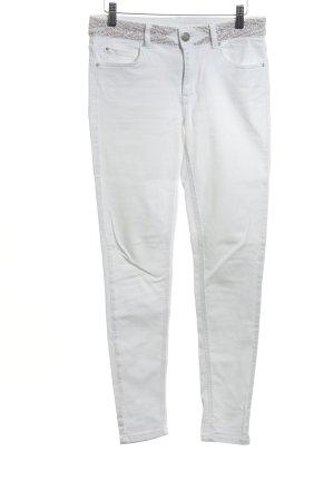 Hallhuber Skinny Jeans weiß Casual-Look
