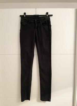 Hallhuber Skinny Jeans Schwarz Grau XXS 32