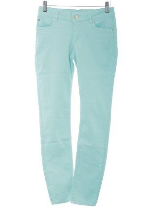 Hallhuber Skinny Jeans türkis Casual-Look