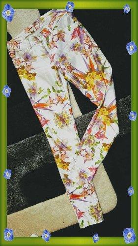 Hallhuber Pantalón de tubo multicolor Algodón