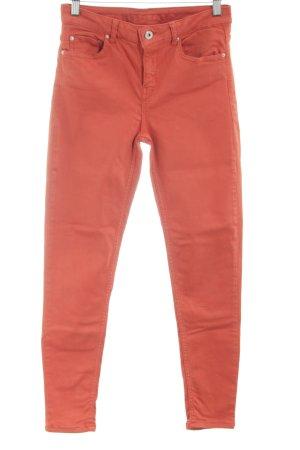 Hallhuber Slim Jeans hellorange Casual-Look