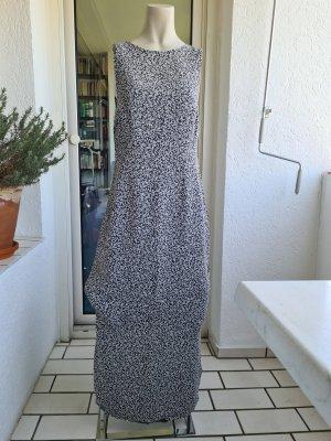 Hallhuber Sommerkleid lang, grau mit Muster, Gr. 38