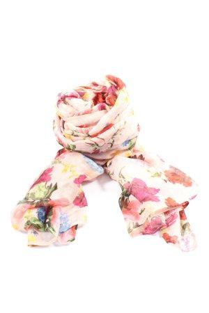 Hallhuber Écharpe d'été rose-kaki motif de fleur style décontracté
