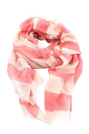 Hallhuber Chal veraniego rosa-crema estampado a rayas look casual