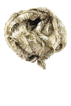 Hallhuber Chal veraniego blanco-caqui look casual