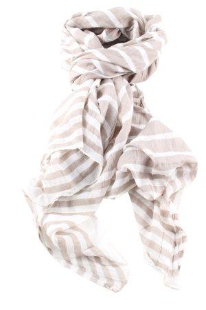 Hallhuber Chal veraniego blanco puro-blanco estampado a rayas look casual