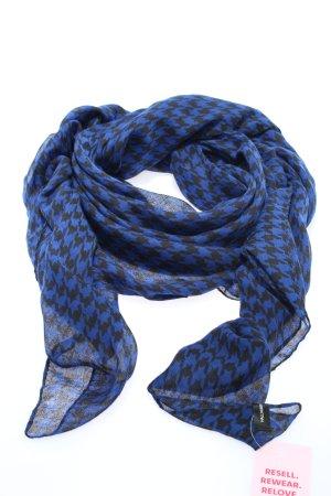 Hallhuber Chal veraniego azul-negro estampado repetido sobre toda la superficie