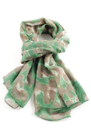 Hallhuber Sommerschal grün-bronzefarben abstraktes Muster Casual-Look