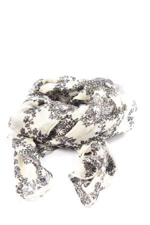 Hallhuber Chal veraniego blanco-negro estampado con diseño abstracto