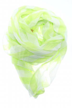 Hallhuber Chal veraniego blanco-verde estampado a rayas look casual