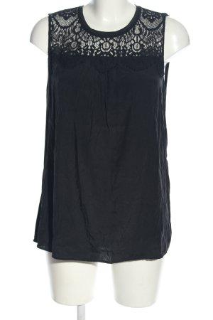 Hallhuber Spitzenbluse schwarz Casual-Look
