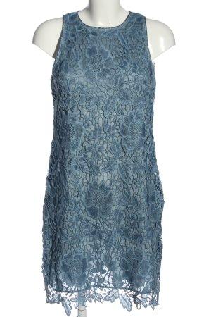 Hallhuber Spitzenkleid blau Blumenmuster Casual-Look