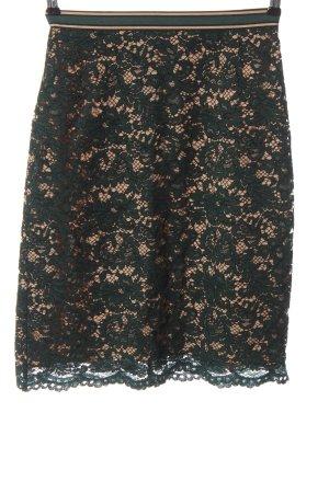 Hallhuber Falda de encaje verde-crema elegante