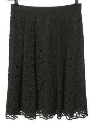 Hallhuber Falda de encaje negro look casual