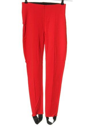 Hallhuber Vastgebonden broek rood casual uitstraling