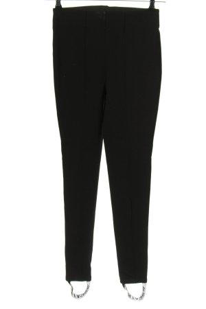 Hallhuber Vastgebonden broek zwart casual uitstraling