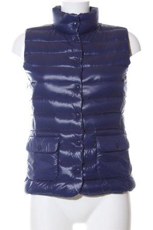 Hallhuber Steppweste blau Steppmuster Casual-Look