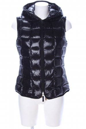 Hallhuber Quilted Gilet black quilting pattern casual look