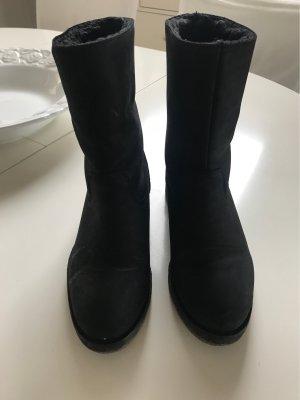 Hallhuber Bottine d'hiver noir cuir