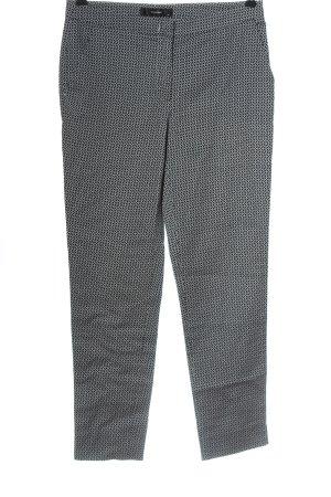 Hallhuber Pantalon en jersey noir-blanc motif abstrait style décontracté