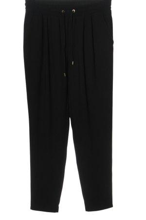 Hallhuber Pantalon en jersey noir style décontracté