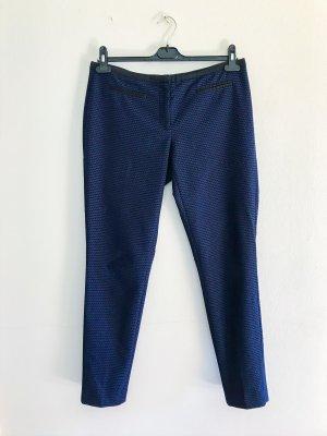 Hallhuber Stoffhose, Anzugshose, gerade geschnitten, blau schwarz, Gr. 38 / M