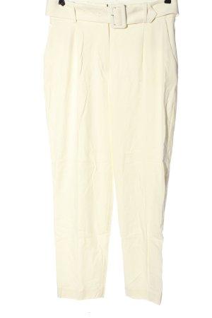 Hallhuber Pantalon en jersey blanc cassé style décontracté